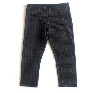 Lululemon Cropped Black/Grey Legging
